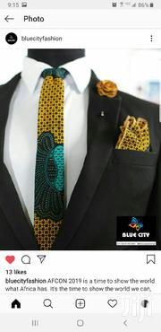 BLUE CITY African Print Flying Tie Set | Clothing Accessories for sale in Greater Accra, Odorkor