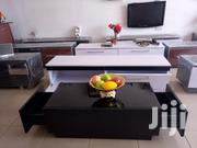 Black Wooden Center Table With Glass On Top From KSA Furniture | Furniture for sale in Greater Accra, Kwashieman