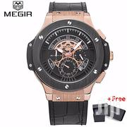 MEGIR Hublot Shape Luxury Leather Watch | Watches for sale in Greater Accra, Achimota
