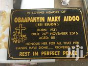 Granite Marble & Tiles Plaque | Manufacturing Services for sale in Greater Accra, Accra Metropolitan