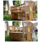 WOODEN COT WITH NET | Children's Furniture for sale in Greater Accra, Adenta Municipal