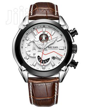 MEGIR Military Sports Top Brand Luxury Leather Watch