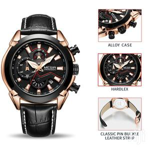 Chronograph Leather Business Men Watch