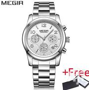 MEGIR Chronograph Women Watch Silver | Watches for sale in Greater Accra, Achimota