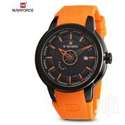 Orange Rubber Strap Naviforce Analog Fashion Watch | Watches for sale in Greater Accra, Achimota