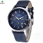 Blue Casual Business Style Leather Watch | Watches for sale in Greater Accra, Achimota