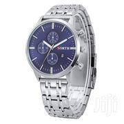 North Trendy Men Stainless Steel Bracelet Blue Face Watch | Jewelry for sale in Greater Accra, Achimota