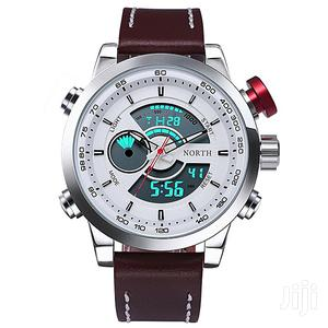 Original North LED Analog Digital Sport Leather Watch