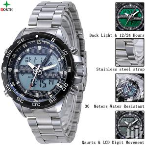 North Water Resistant Quartz Japan Movement Digital Analog Watch