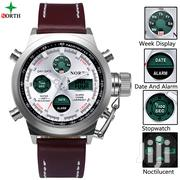 North 6022 Fashion Men Digital Analog Watch - Brown | Watches for sale in Greater Accra, Achimota