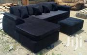 Black Luxury  L Shaped Couch | Furniture for sale in Eastern Region, Asuogyaman