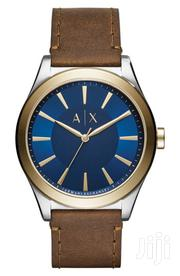 Armani Exchange Brown Leather Watch | Watches for sale in Greater Accra, Abelemkpe