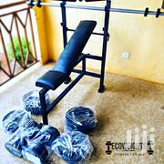 Dumbbells, Barbell And Bench Set | Sports Equipment for sale in Greater Accra, Achimota