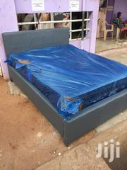Quality Leather Bed With Foreign Mattress For Sell. | Furniture for sale in Greater Accra, Ashaiman Municipal