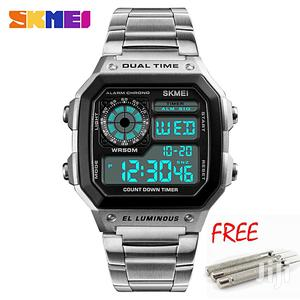 Digital Chain Strap 5ATM Waterproof Men Watch