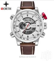 Genuine Leather Strap Dual Movement Big Dial Watch | Watches for sale in Greater Accra, Akweteyman