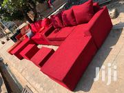 ITALIAN L SHAPE SOFA Set Red | Furniture for sale in Greater Accra, Abelemkpe