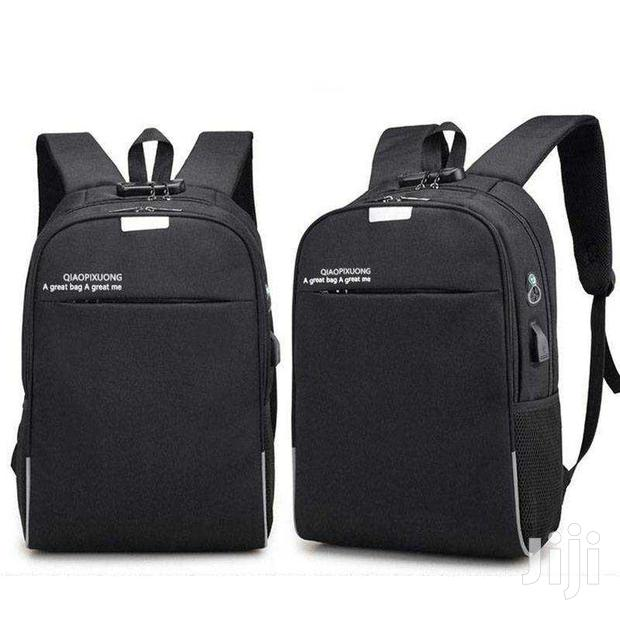 Anti-theft, Lockable, Laptop Backpack - Black