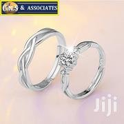 1 Pair Of Zircon Couple Rings Set Sterling Silver | Jewelry for sale in Greater Accra, Ga West Municipal