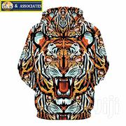 3D Tiger Head-pattern Hoodie | Clothing for sale in Greater Accra, Ga West Municipal