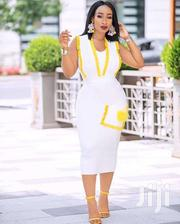 White Dress With Yellow Design | Clothing for sale in Greater Accra, Osu