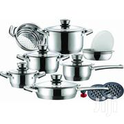 Tommy Leopard German Designed 16-piece Stainless Steel Cookware Set | Kitchen & Dining for sale in Greater Accra, East Legon