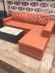 Ghana Made L Shaped Sofa With Center Table For Sell. | Furniture for sale in Greater Accra, Okponglo