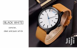 White Face Curren Leather Watch