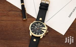 Big Dial Curren Leather Mens Wrist Watches