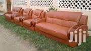 Sofa Chair Set With Quality Wood And Leather | Furniture for sale in Greater Accra, Tema Metropolitan