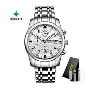 All Silver Chain Chronograph North Watch | Jewelry for sale in Greater Accra, Akweteyman
