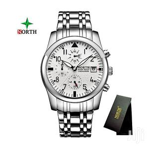 All Silver Chain Chronograph North Watch