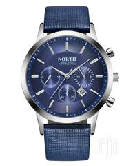 PU Leather Strap Fashion Men Watch BLUE. | Watches for sale in Greater Accra, Akweteyman