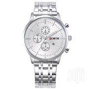 All Silver Analog Display Men Fashion Watch | Watches for sale in Greater Accra, Akweteyman
