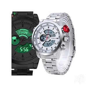 Original LED Analog Digital Sport Watch Silver.