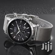 Luxury Black & Silver Chain Strap North Men Watch | Watches for sale in Greater Accra, Akweteyman
