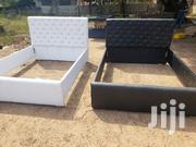 White And Black Bed Frame   Furniture for sale in Greater Accra, Teshie-Nungua Estates
