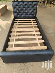 One And Half Leather Bed | Furniture for sale in Greater Accra, Kotobabi