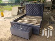 Massive Gray Bed Eity Ottoman | Furniture for sale in Greater Accra, East Legon