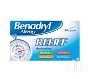 Benadryl Allergy Relief Capsules – 24 Capsules   Vitamins & Supplements for sale in Greater Accra, Ga West Municipal
