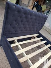 Black Fabric Materials Bed | Furniture for sale in Greater Accra, Mataheko