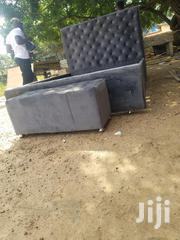 Foreign Material Leather Double Bed | Furniture for sale in Greater Accra, Airport Residential Area