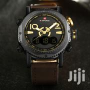 NAVIFORCE LUXURY MEN Military Leather Dual Time Watch   Watches for sale in Greater Accra, Akweteyman