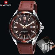 Analog Brown Fashion Leather Naviforce Watch | Watches for sale in Greater Accra, Akweteyman