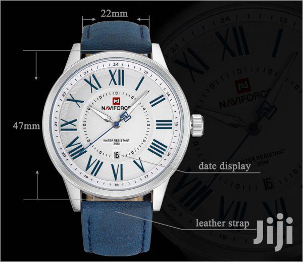 Archive: Naviforce Casual Luxury Blue Faux Leather Watch
