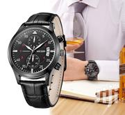 All Black Business Leather Watch | Watches for sale in Greater Accra, Akweteyman