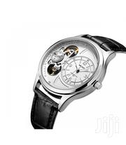 Silver & Black Leather Business Mechanical Watch | Watches for sale in Greater Accra, Akweteyman
