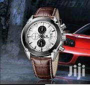Chronograph Leather Megir Business Men Watch | Watches for sale in Greater Accra, Akweteyman
