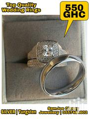 Pure Silver And Tungsten Wedding Rings | Jewelry for sale in Greater Accra, Kwashieman