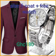 Slim Fit Blazer Plus Free Watch | Clothing for sale in Greater Accra, Achimota